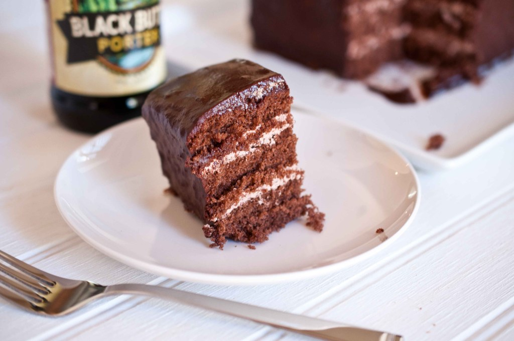 Chocolate Stout Cake with Beer Brown Sugar Butter Cream Filling ...