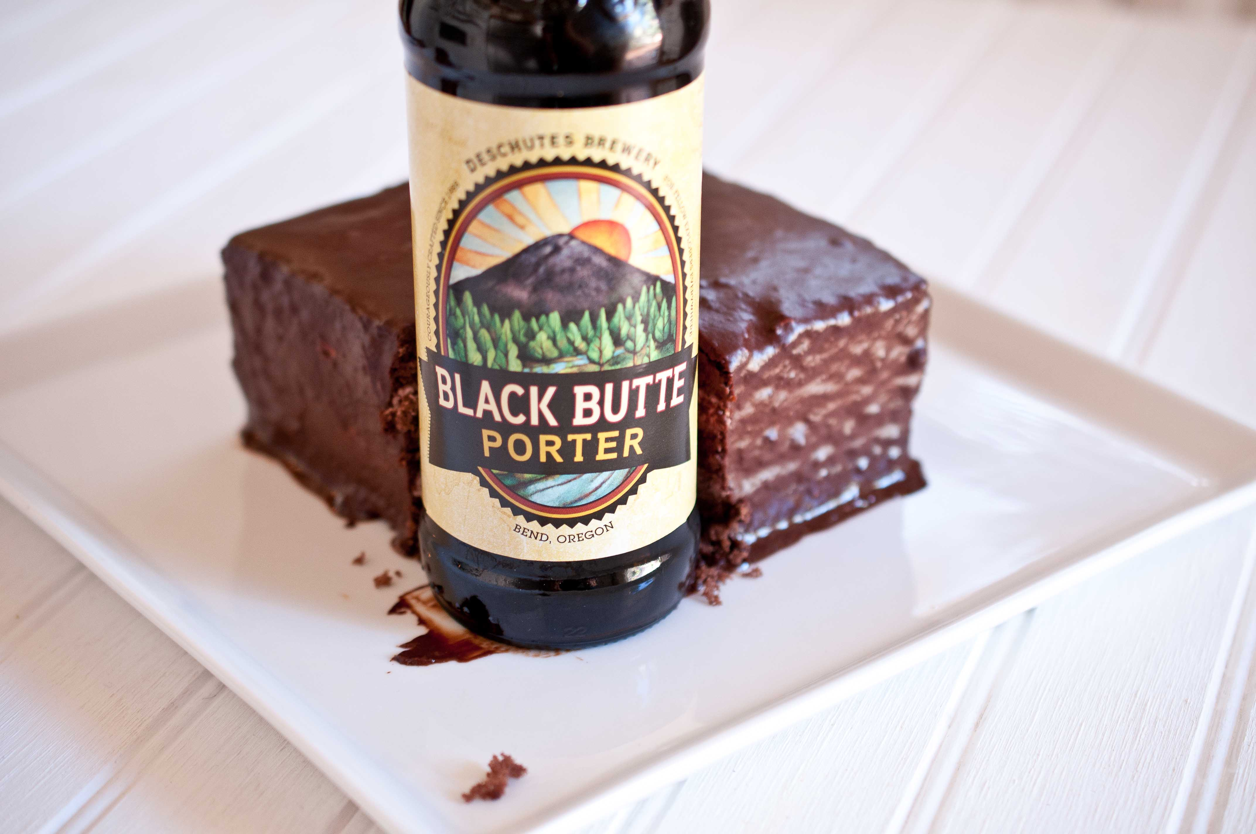 Chocolate Stout Cake With Porter Ganache & Beer Brown Sugar ...