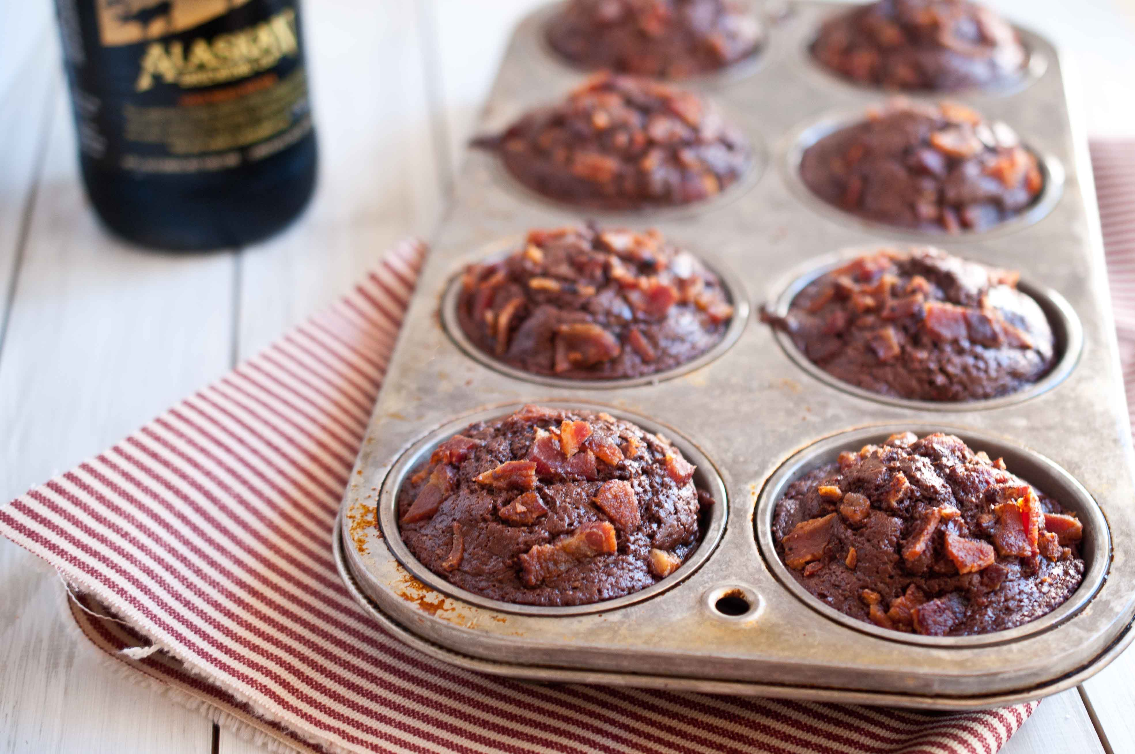 Chocolate, Bacon & Porter Muffins - The Beeroness