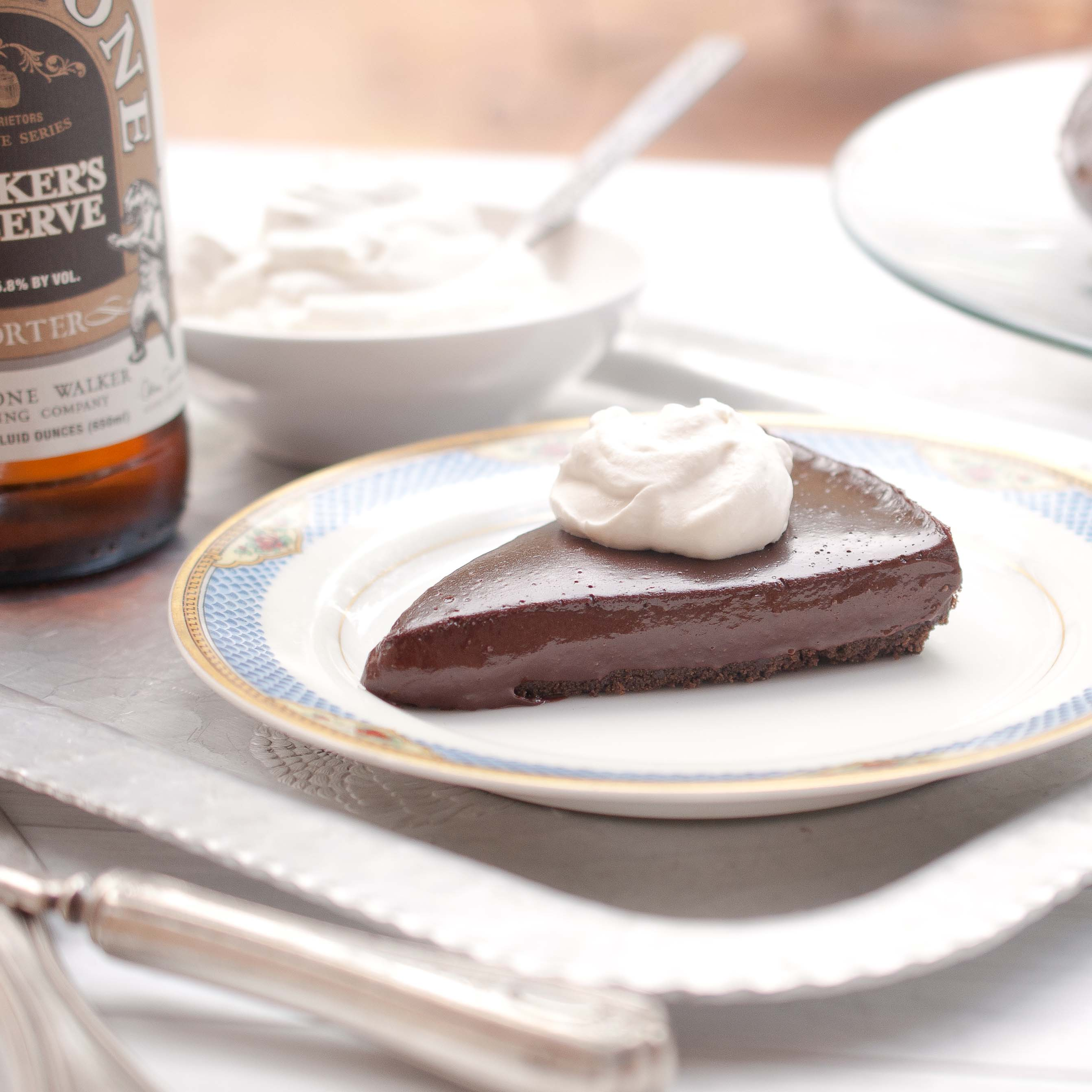 Chocolate Porter Beer Tart With Porter Whipped Cream - The Beeroness